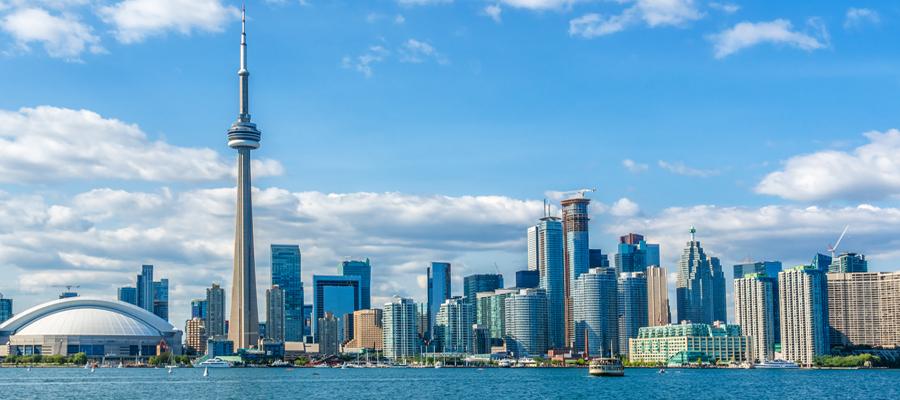 Toronto Lake Ontario CN Tower