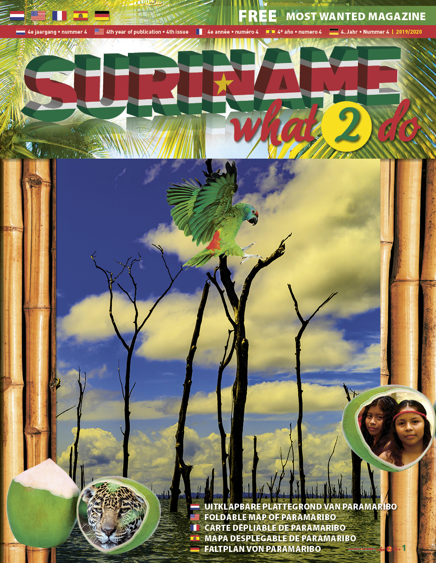Cover Suriname What 2 Do brochure 2019/2020